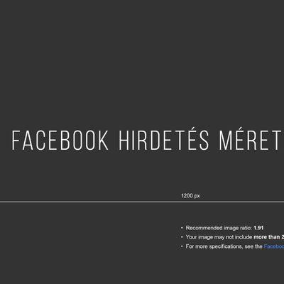 Facebook hirdetés méretek